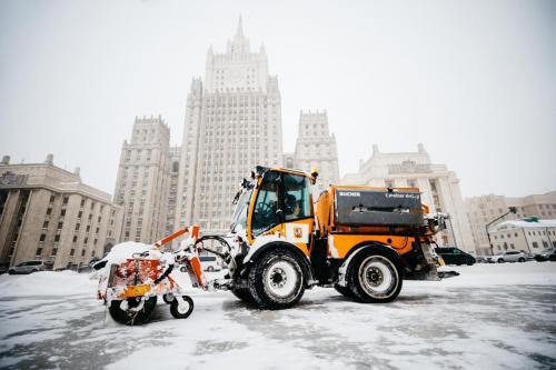 Устранение последствий аномального снегопада. Февраль, 2021