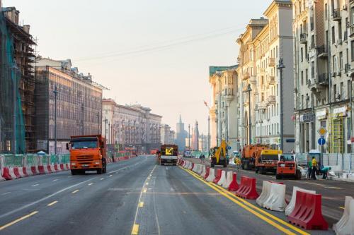 Капитальный ремонт Тверской улицы. 2016 год