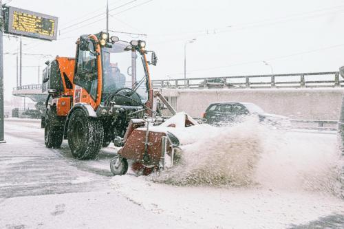 Снегоуборочные работы. Февраль, 2020 год