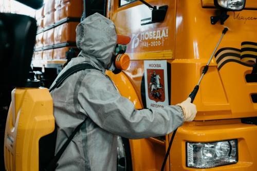 Санитарная обработка специализированной дорожной техники. 15 мая